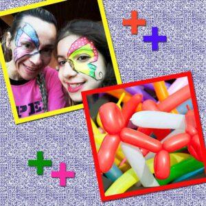 modelagem com balões e pintura artística